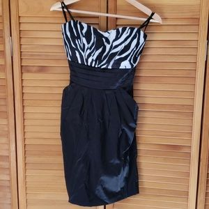Women's strapless party dress